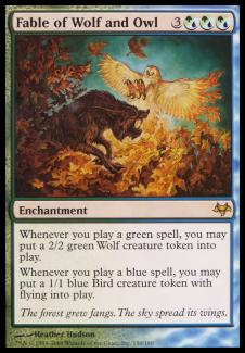 Fable of Wolf and Owl